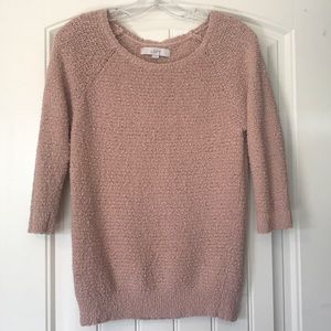Blush Pink Loft Sweater Size Medium